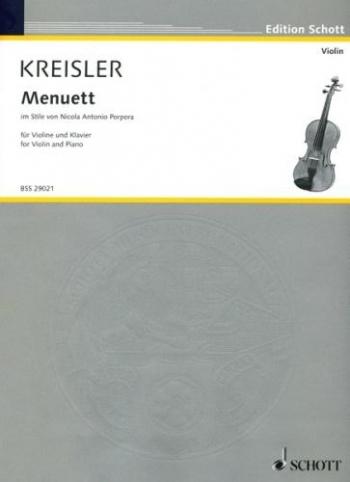 Menuett Popora: Violin and Piano