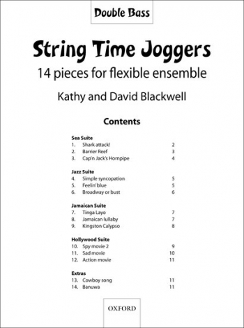 String Time Joggers: Double Bass Part: 14 Pieces Flexible Ensemble Book & CD  (Blackwell)