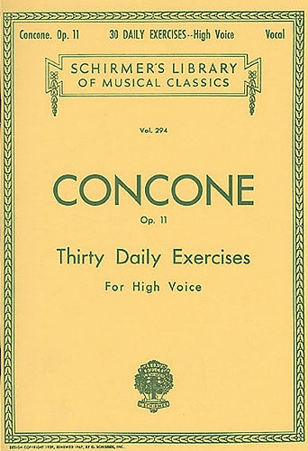30 Daily Exercises Op11: High Voice