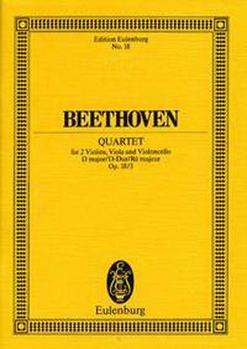 String Quartet: D Major Op18: 3: Miniature Score