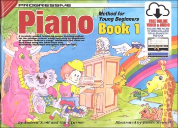 Progressive Piano Method For Young Beginners Book 1 (A5) Book Online Video & Audio