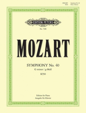 Symphony No.40: G Minor: K550: Piano (Peters)