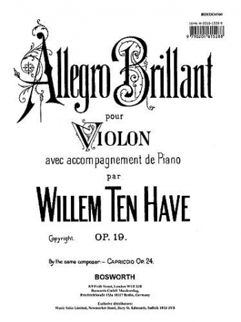 Allegro Brillante Op.19: Violin & Piano (Bosworth)