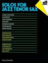 Trans: Solos Jazz Tenor Saxophone