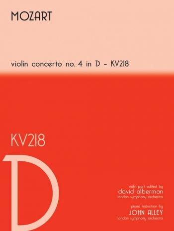 Concerto: D Major: No4: Kv218: Violin and Piano