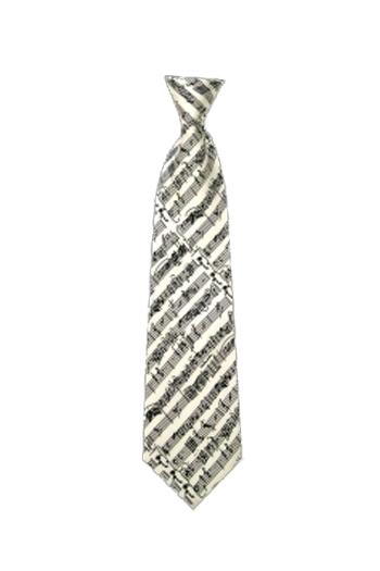 White Silk Tie - Mozart Manuscript