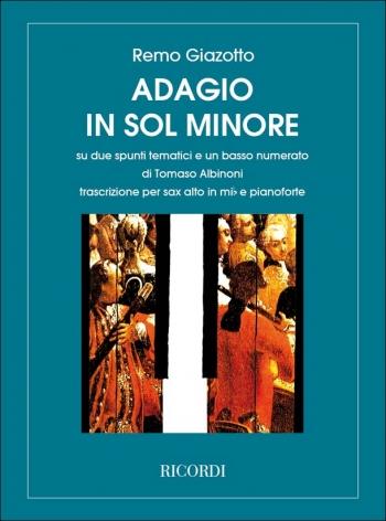 Adagio In G Minor For Alto Saxophone & Piano (Ricordi)