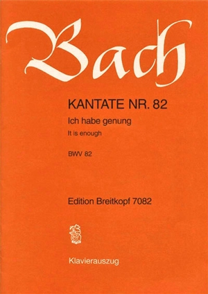 Cantata: Bwv82: Ich Habe Genug: Ger/Eng: Vocal Score (Breitkopf )