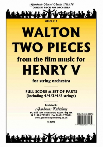 Orch/walton/2 Pieces From Henry V/string Orchestra/scandpts