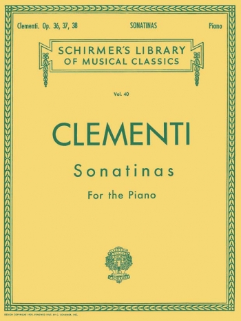 12 Sonatinas Op.36, 37 and 38: Piano (Schirmer)