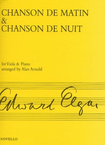 Chanson De Matin and Chanson De Nuit: Viola and Piano