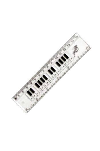"6""/15cm Clear Keyboard Ruler"