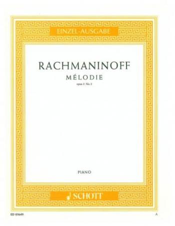 Melodie Op.3 No. 3: Morceaux De Fantaisie: Piano: Piano (Schott Ed)