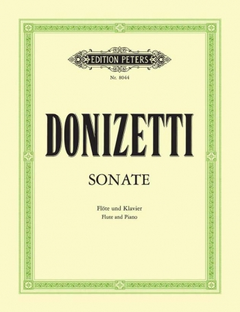 Flute Sonata: Flute & Piano: Book & CD (Peters)