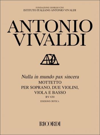 Nulla In Mundo Pax: Vocal Score