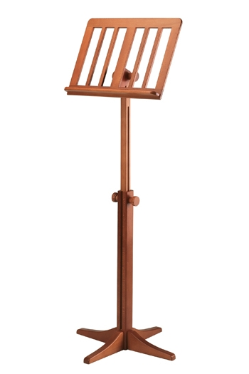K&M Wooden 11617 Music Stand - Cherry Finish