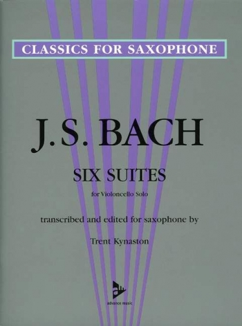 6 Suites For Cello Arranged For Tenor Saxophone (kynaston)