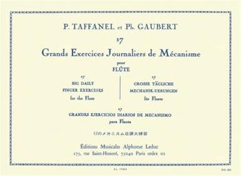 17 Big Daily Exercises: Grand Exercises Journaliers De Mecanisme:  Flute Solo (Leduc)