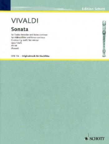 Sonata: Gmin: Op13A: 6: Treble Recorder and Piano