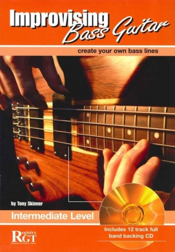 Improvising Bass Guitar: 2  Intermediate: Book & CD