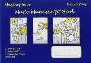 Manuscript: 5 Stave - 20 Page: Theory/Staves Masterpiece Music Manuscript (Blue)