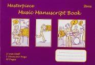 Manuscript: 5 Stave - 20 Page: Staves: Masterpiece Music Manuscript (Purple)