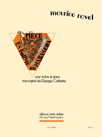 Piece En Forme De Habanera: Violin