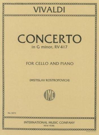 Concerto: G Minor: Cello & Piano  (International)
