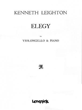 Elegy: Cello & Piano (Leduc)