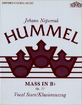 Mass In Bb: Op77: Satb: Vocal Score