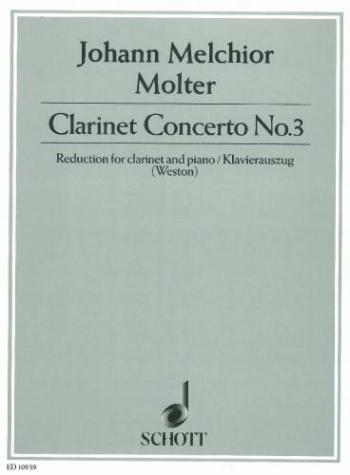 Clarinet Concerto: No.3 Clarinet & Piano (Schott)