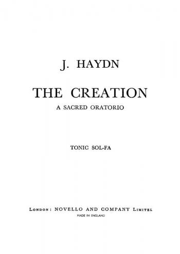Creation: Vocal Score: Satb: Old Novello Edition (Vincent Novello)