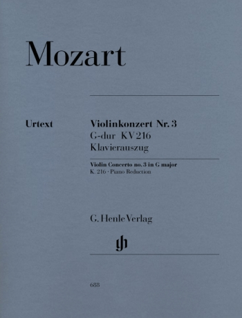 Concerto: G Major: No3: Kv216: Violin and Piano