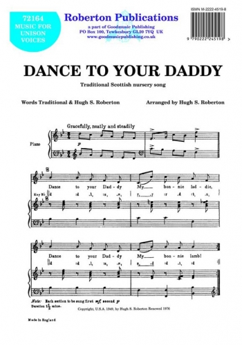 Dance To Your Daddy: Vocal Solo