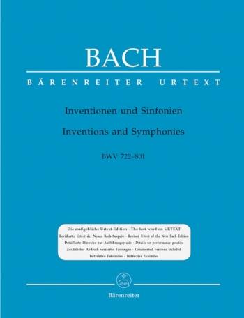 Inventions & Sinfonias: Bwv772-801: Piano (Barenreiter)