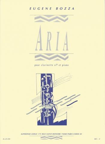 Aria: Clarinet & Piano (Leduc)