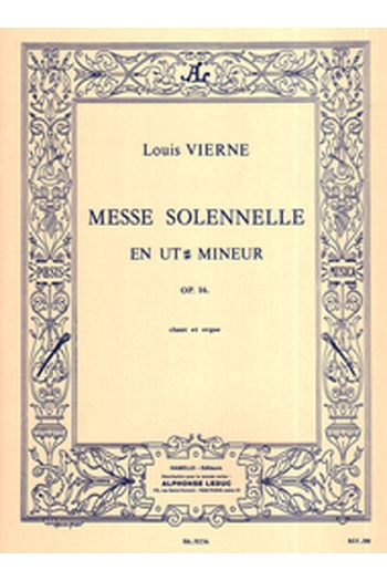 Messe Solennelle: Organ And Vocal  (Hamelle)