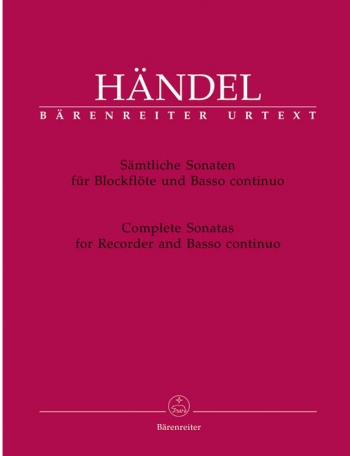 Complete Sonatas: Recorder and Piano (Barenreiter)