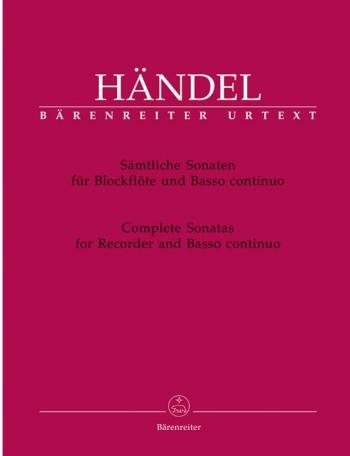 Complete Sonatas: Recorder and Piano (Barenreiter)