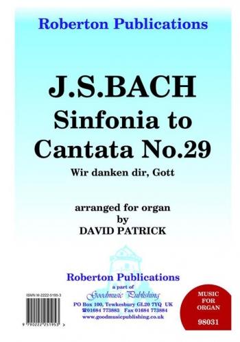 Sinfonia To Cantata: No 29: Organ