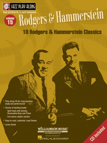 Jazz Play Along Vol.15: Rodgers and Hammerstein: Bb or Eb or C Instruments: Book & CD