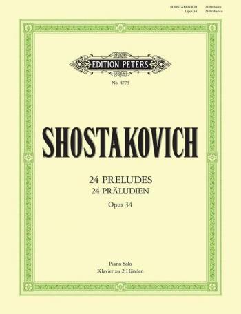 24 Preludes Op34: Piano  (Peters)