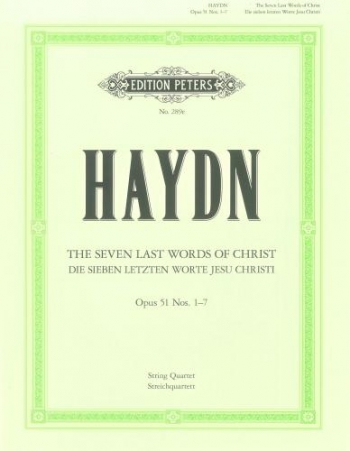 Haydn: Seven Last Words: String Quartet Version Hob3: 50-56  Parts Only
