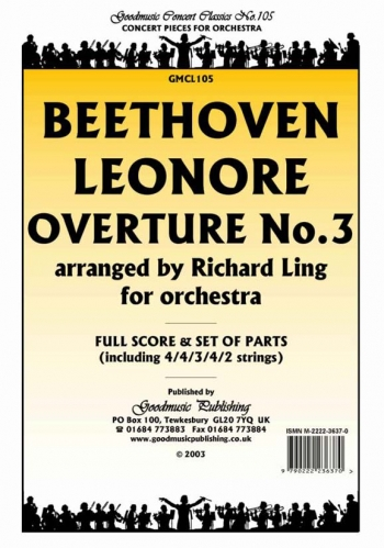Orchestra: Beethoven Leonore Overture No3 Orchestra Score And Parts