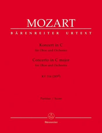 Concerto: C Major: K314: Oboe & Piano (Barenreiter)