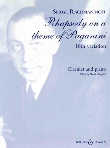 18Th Variation From Rhapsody On A Theme Of Paganini: Clarinet & Piano