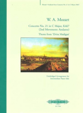 Andante From Concerto No 21 In C Major K467: Piano (Elvira Madigan) Arr Flint