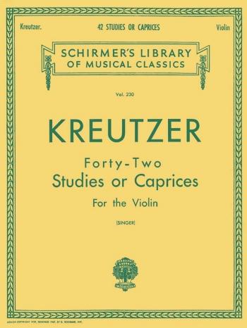 42 Studies Or Caprices: Violin Solo (Schirmer)
