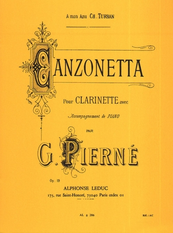 Canzonetta: Op19: Clarinet & Piano (Leduc)