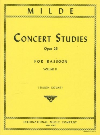 50 Concert Studies Op.26: Vol.2: Bassoon (International)
